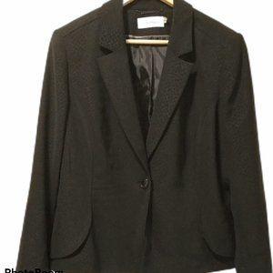 Calvin Klein Size 16 Black lined Blazer Jacket